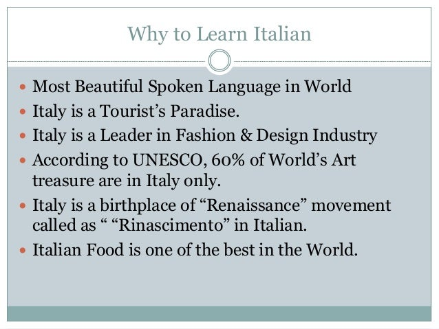 Top Italian Language Phrases - Top 20 languages in the world