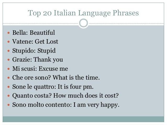 Italian Language Translation To English: Top 20 Italian Language Phrases