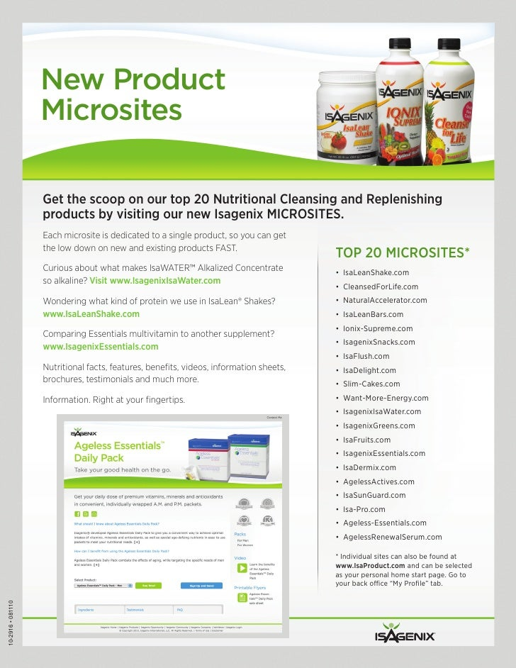 New Product                   Microsites                   Get the scoop on our top 20 Nutritional Cleansing and Replenish...