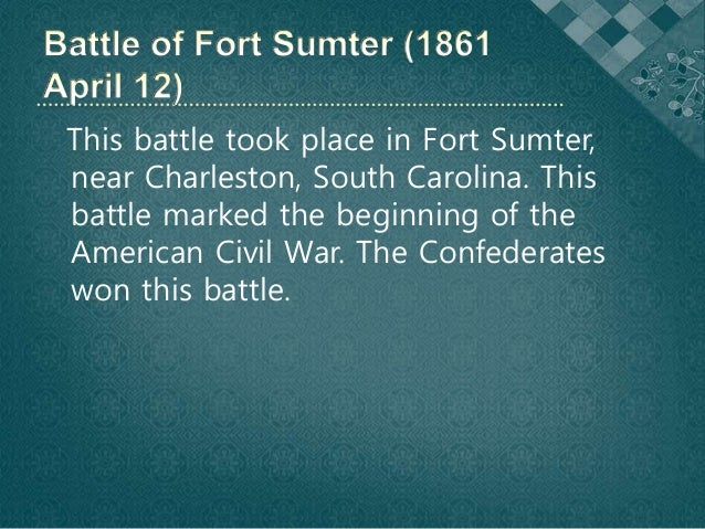 fort sumter significance