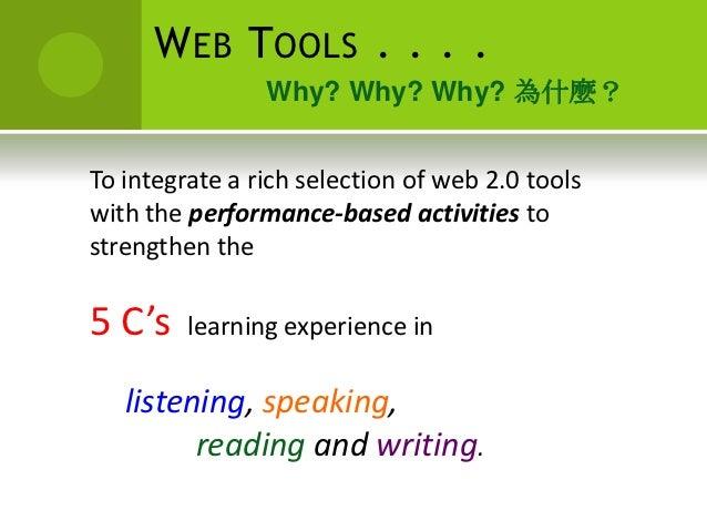Integrating Webtools for Performance-based Chinese Classroom Slide 3