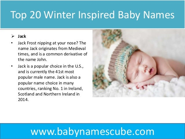 top 20 winter inspired baby names babynamescube. Black Bedroom Furniture Sets. Home Design Ideas