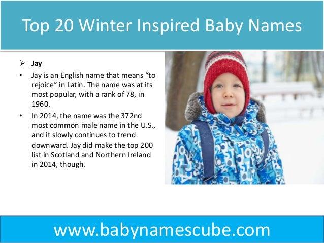 Top 20 Winter Inspired Baby Names - BabyNamesCube
