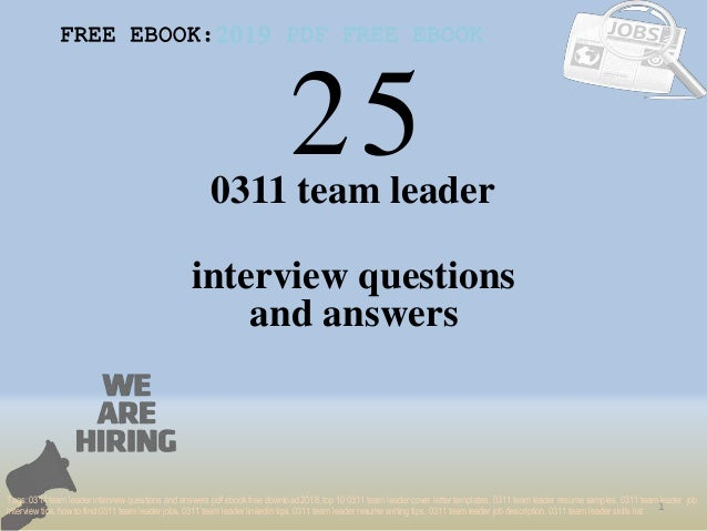 top 25 0311 team leader interview questions and answers pdf ebook fre
