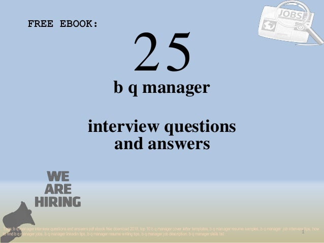 Top 25 project manager 1 interview questions and answers pdf ebook fr….