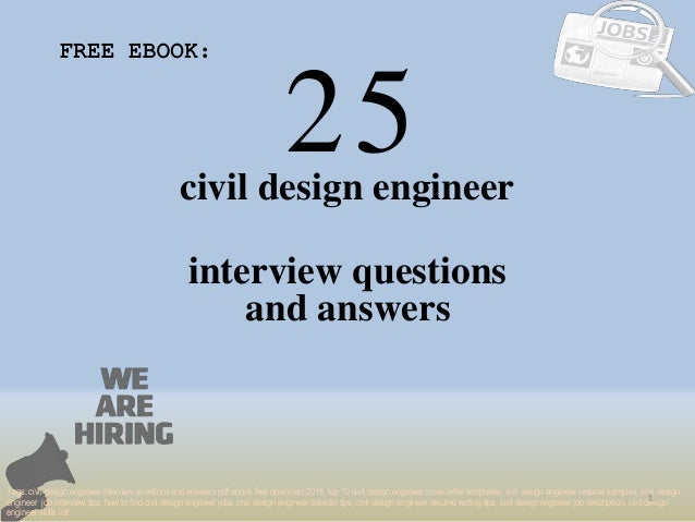 Top 25 Civil Design Engineer Interview Questions And Answers Pdf Eboo