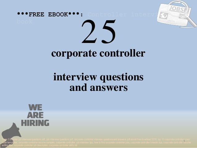 top 25 corporate controller interview questions and answers pdf ebook