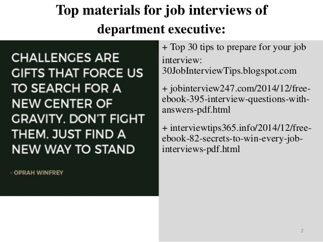 Top 25 department executive interview questions and answers pdf ebook top materials fandeluxe Gallery