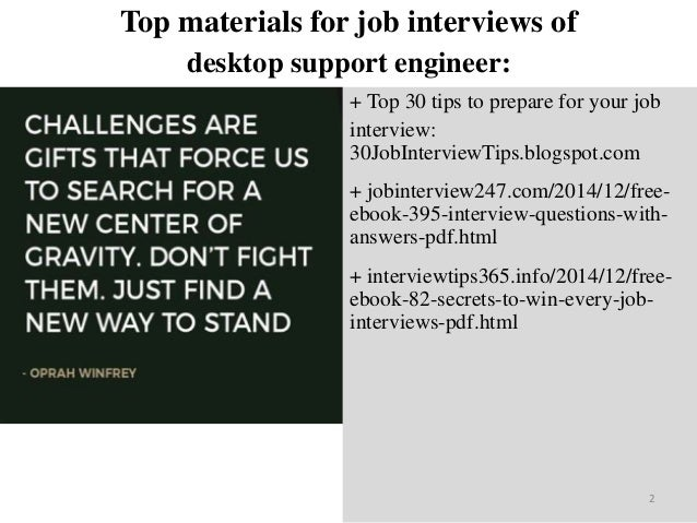 Interview and questions pdf answers desktop support