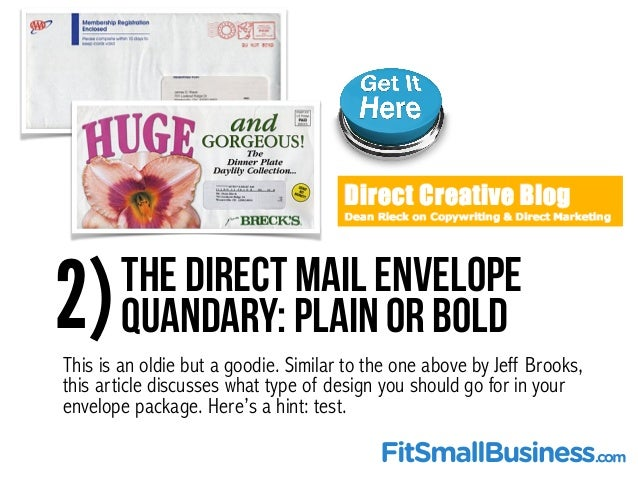Top 25 direct mail marketing resources for Direct from the designers