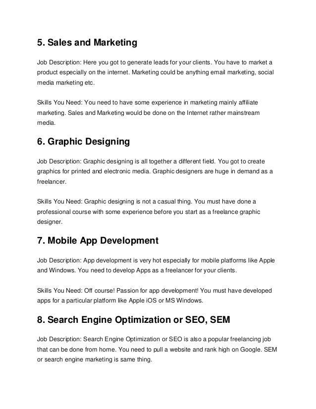 freelance graphic designer job description senior interior