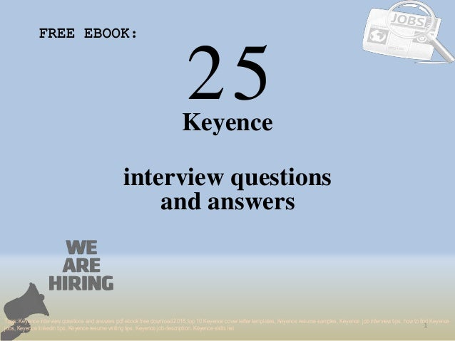 Top 25 keyence interview questions and answers pdf ebook