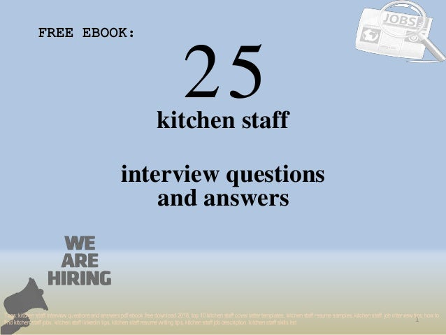 Top 25 Kitchen Staff Interview Questions And Answers Pdf Ebook Free D