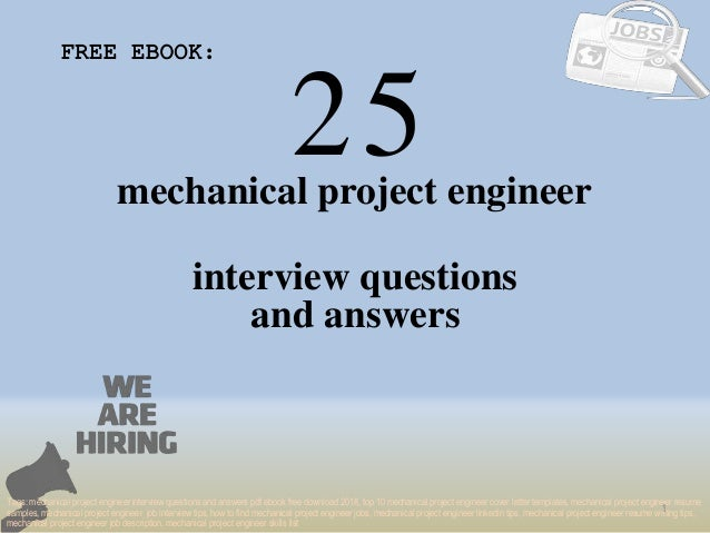Top 25 Mechanical Project Engineer Interview Questions And Answers Pd