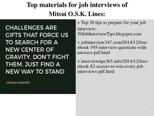 Top 25 mitsui o s k  lines interview questions and answers pdf ebook …