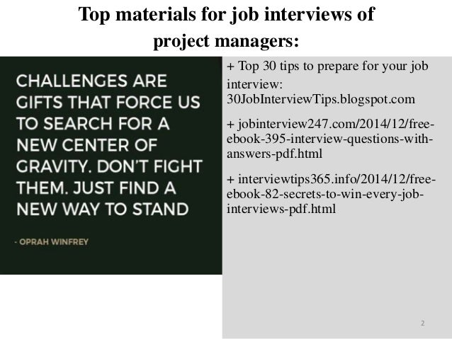 top 25 project managers interview questions and answers