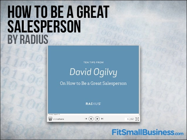 How To Be A Great Salesperson  By Radius