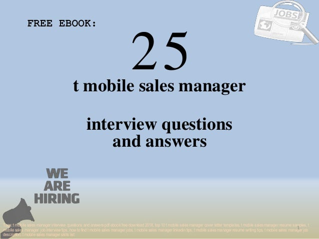 top 25 t mobile sales manager interview questions and answers pdf ebo