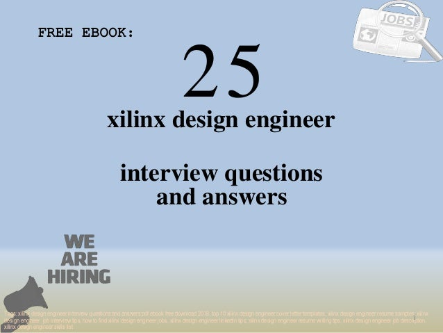 Top 25 xilinx design engineer interview questions and