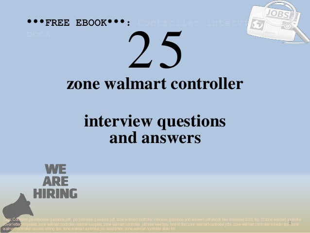 Top 25 zone walmart controller interview questions and