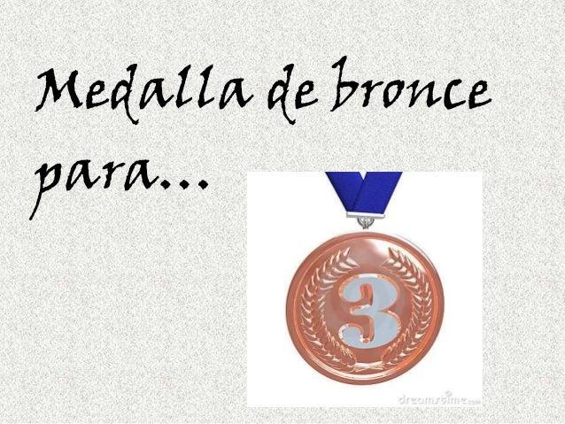 Medalla de broncepara…