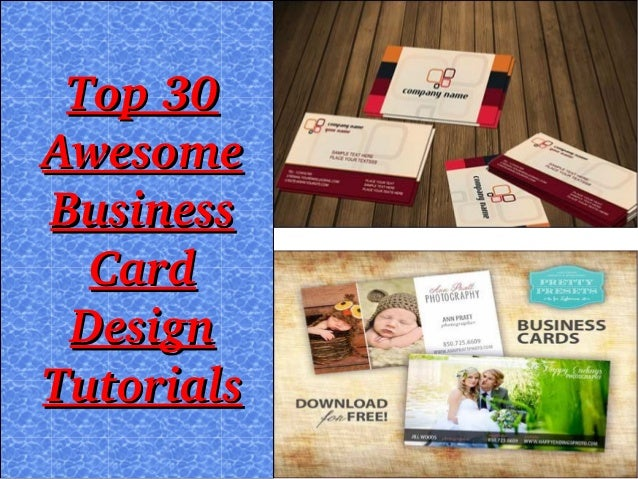 Top30 Awesome Business Card Design Tutorials
