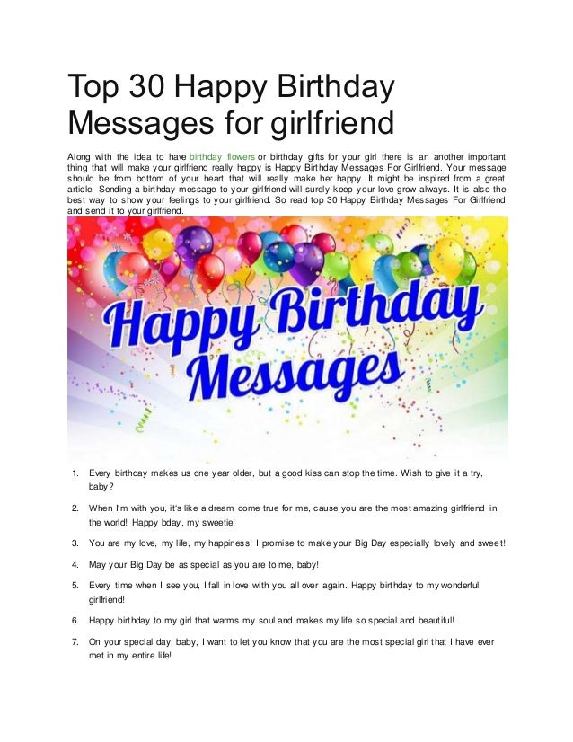 Top 30 Happy Birthday Messages For Girlfriend With Florist Saigon