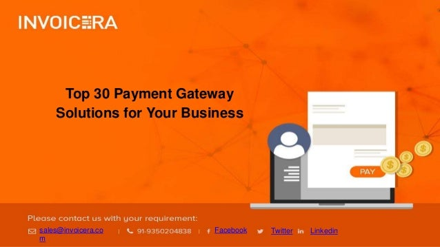 top 30 payment gateway solutions for online invoicing system
