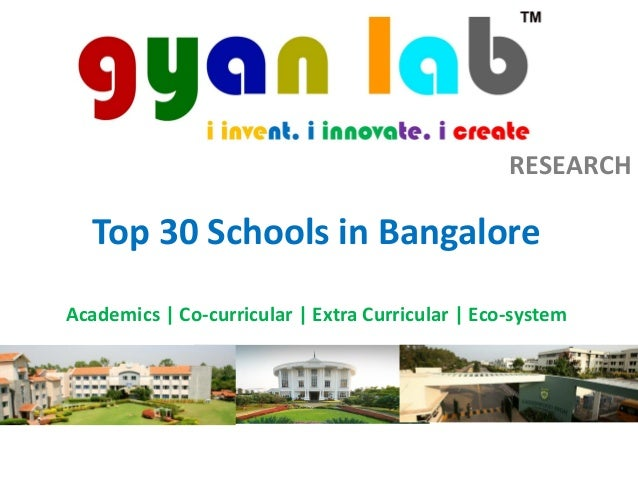 RESEARCH Top 30 Schools in Bangalore Academics | Co-curricular | Extra Curricular | Eco-system
