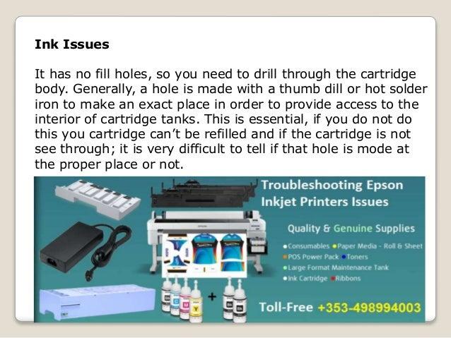 Top 3 Epson Printers Ink Cartridge Issues