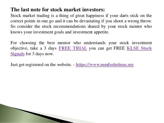 Top 3 KLSE Stock Trading Tips For Bursa Malaysia Stock Investors