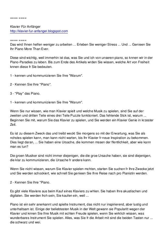 ==== ====Klavier Für Anfängerhttp://klavier-fur-anfanger.blogspot.com==== ====Das wird Ihnen helfen weniger zu arbeiten .....