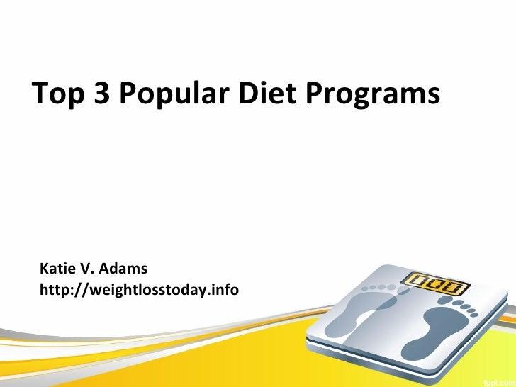 Popular Diet Program Reviews