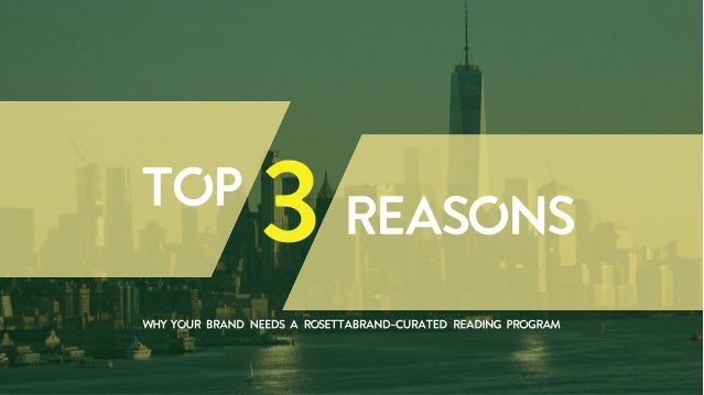 Top 3 Reasons Why Your Brand Needs A RosettaBrand Curated eBook Reading Program
