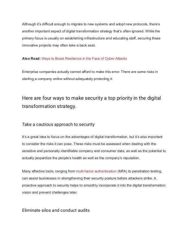Top 3 ways to build security into digital transformation Slide 2
