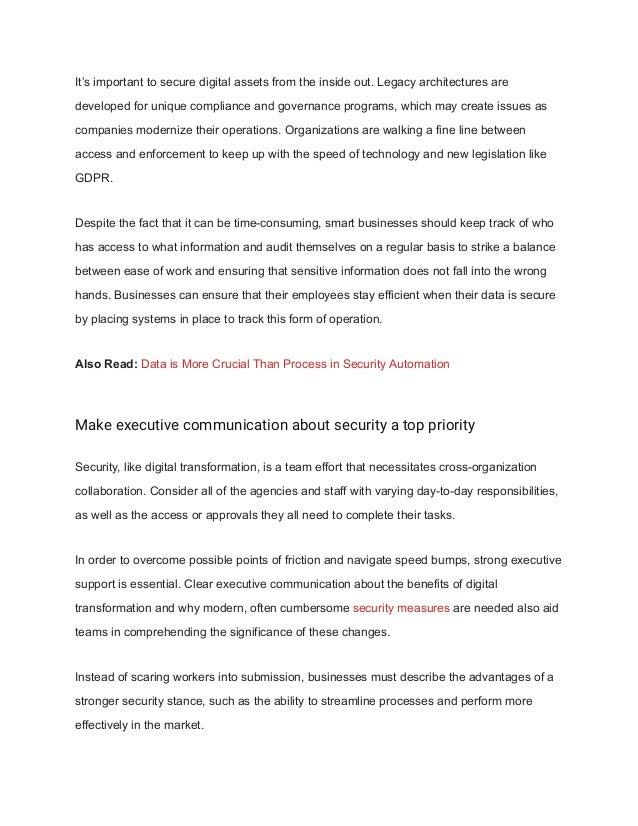 Top 3 ways to build security into digital transformation Slide 3