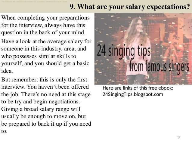 Top 40 anthem sales interview questions and answers pdf