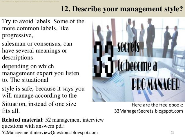 95 Management Interview Questions And Answers Pdf