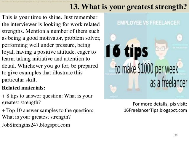 top 40 department project manager interview questions and