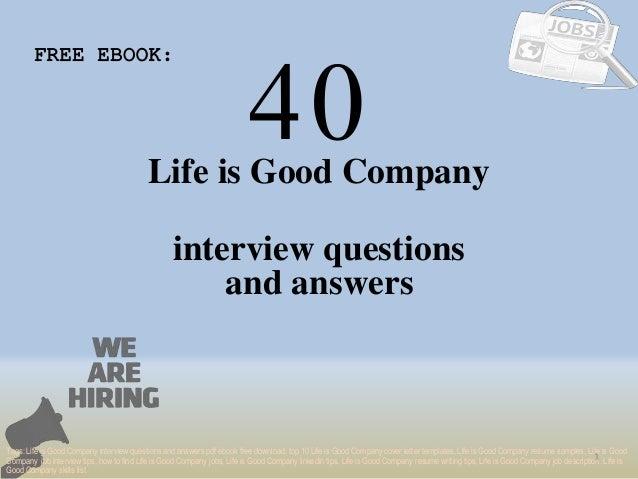Life Is Good PDF Free Download