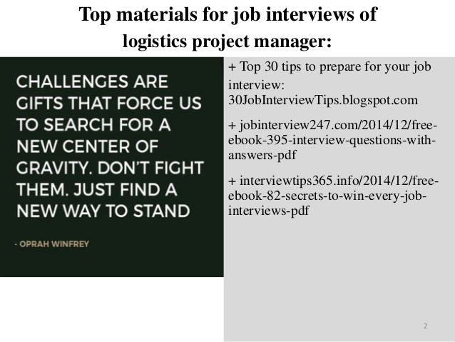 Top 40 logistics project manager interview questions and