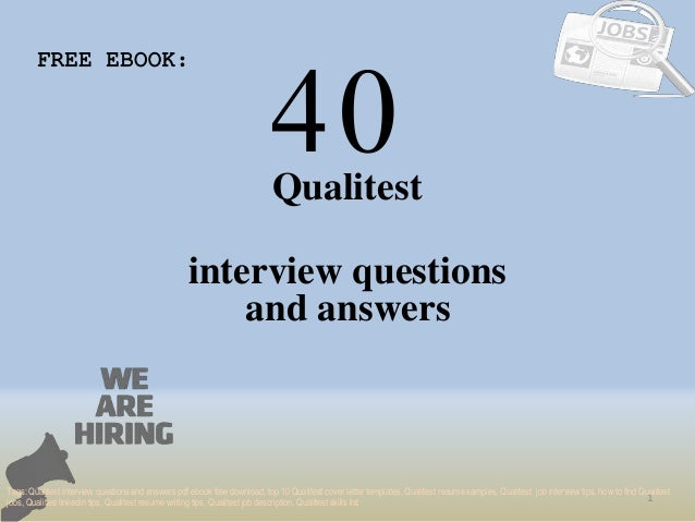 Top 40 qualitest interview questions and answers pdf ebook