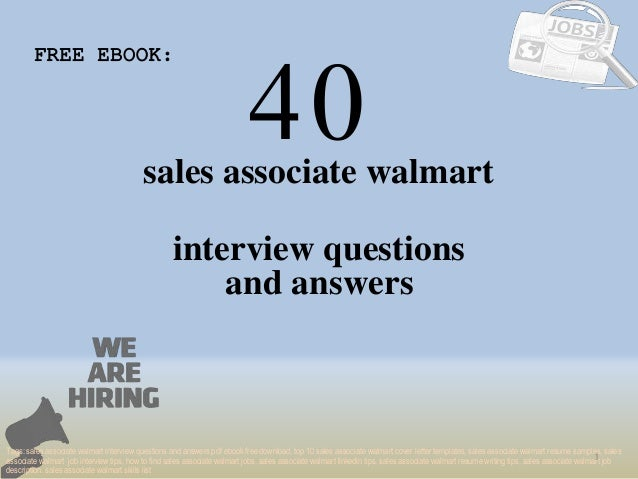 Top 40 sales associate walmart interview questions and answers pdf eb…