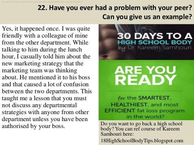 Top 40 sales representative coca cola interview questions ...