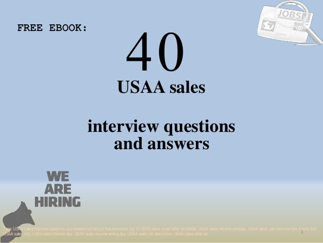 top 40 usaa sales interview questions and answers pdf