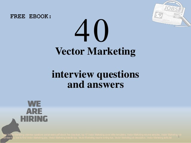 marketing interview questions and answers pdf free download