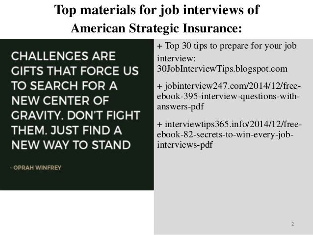 Top 45 American Strategic Insurance Interview Questions And Answers P