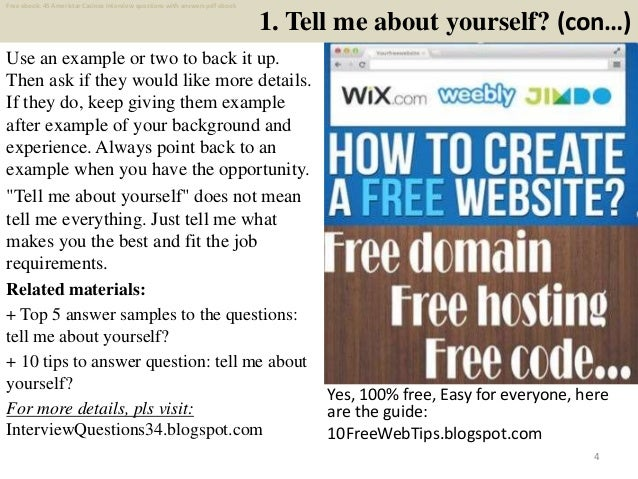 Top 45 ameristar casinos interview questions and answers pdf