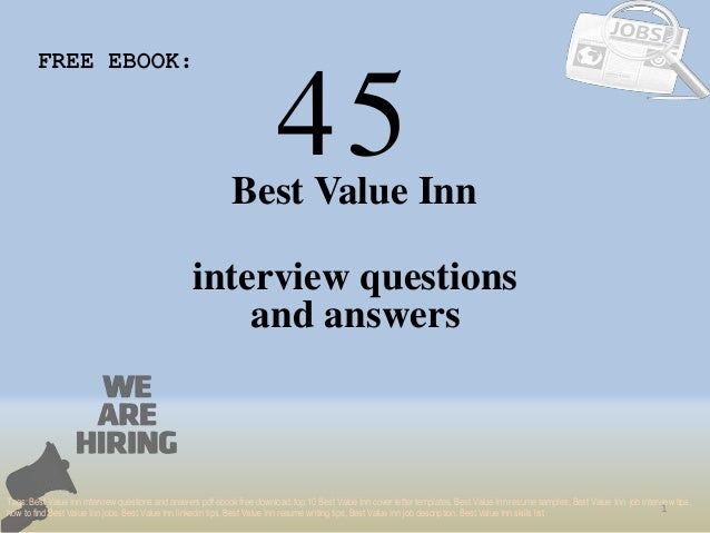 Top 45 best value inn interview questions and answers pdf 45 1 best value inn interview questions free ebook tags best value inn interview fandeluxe Images