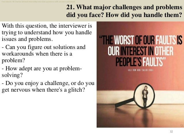 Top 45 charles schwab internship interview questions and